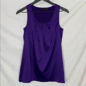 Purple The Limited Silky Racerback Tank Top Blouse